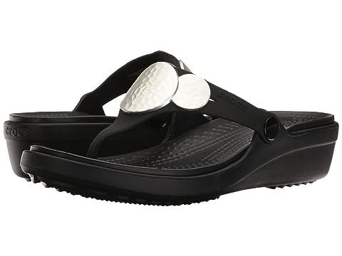 ad2ee1b2874a Crocs Sanrah Embellished Wedge Flip at 6pm