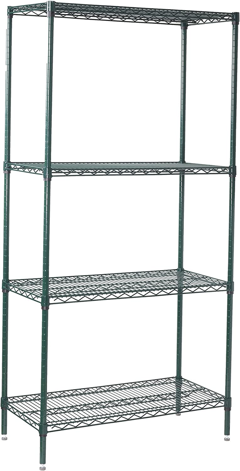 Winco VEXS-2436 Direct sale of manufacturer 4-Tier Wire Shelving Set 36 Max 66% OFF Epoxy 24