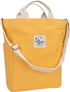 Lily Queen Women Canvas Tote Handbags Casual Shoulder Work Bag Crossbody