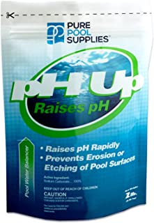 Pure Pool Supplies pH Up 2 Lbs. (pH Increaser pH Plus Soda Ash Sodium Carbonate) Pool Spa Balancer