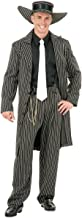 Charades Adult Black and White Zoot Suit Costume