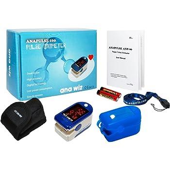 Pulsossimetro SPO2 dito e Cardiofrequenzimetro, cordino e custodia