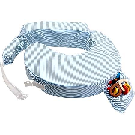 My Brest Friend - Almohada de Lactancia, Estándar, Rayas Blancas Azules (0001)