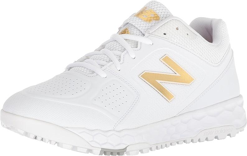 nouveau   Wohommes Velo V1 Turf Softball chaussures, blanc, 5 B US