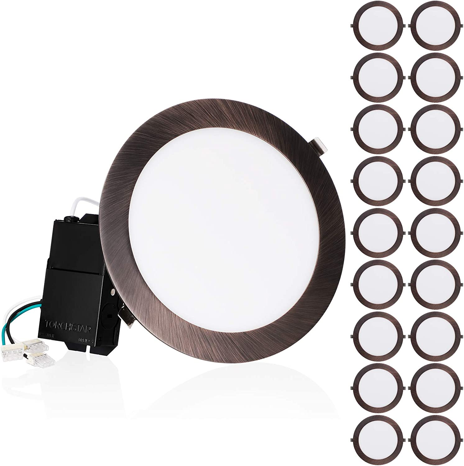 Wholesale TORCHSTAR New product type 18-Pack Premium 18W 8-Inch Ultra-Thin Lig Recessed LED