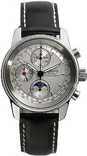 Zeno Watch Basel - Reloj para Hombre Analógico Automático con Brazalete de Cuero 6557VKL-g3