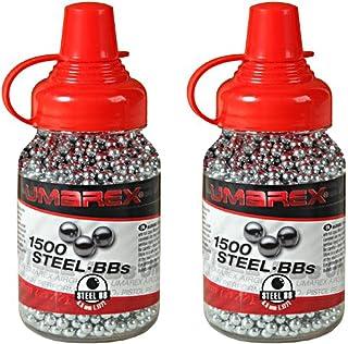 comprar comparacion Outletdelocio. Pack 2 biberones bolas acero Umarex Steel BBs (4,5mm) 1500 piezas cada unidad. 2-52121