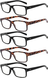 Reading Glasses by Eyekepper: Vintage Mens Reading Glasses-5 Pack(3 Pairs Black and 2 Pairs Tortoise) Glasses for Men Read...