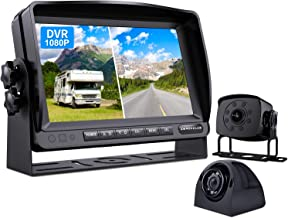 $119 » ZEROXCLUB Wired Backup Camera for Truck RV Trailer, FHD 1080p 7-inch Monitor with 2 Camera for Watching Blind Spot of Back...