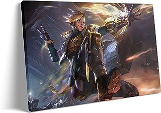 Metal Wall Arts for Living Room - The Prodigal Explorer Psyops Ezreal Prestige Edition Marksman MOBA Game Poster : Canvas ...