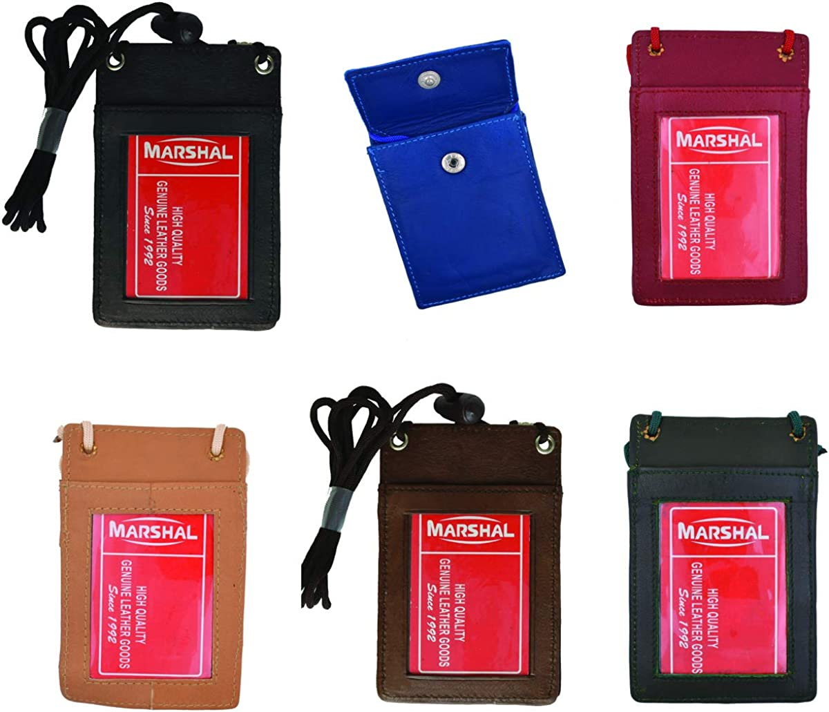Wholesale Leather Neck SEAL limited product ID Badge Pouch favorite Credit Wallet Holder Card