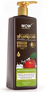 WOW Skin Science Apple Cider Vinegar Shampoo - Restores Shine & Smoothness - No Parabens, Sulphates & Silicones, 1000 ml