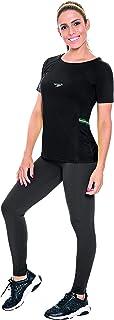 Speedo Tape Camiseta de Manga Curta, Mulheres