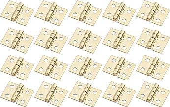 20PCS 108MM Mini Tiny Brass Hinge with Nails Jewelry Chest Gift Wine Music Box Dollhouse