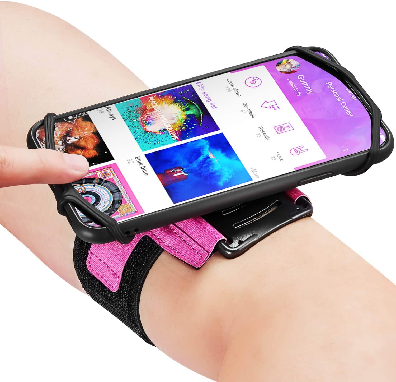 Newppon Cell Phone Holder Armbands :with Key Pocket & 360° Rotatable Compatible for iPhone 12 Pro/12 Mini/SE 2020/11 Pro/Xs/XR/X/8/Plus, Fits All 4-6.7 Inch Smartphones,for Exercise Workout