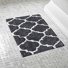 The Home Talk Bath Mat/Floor Rug, Ultra-Soft, Anti-Skid Backing, Water Absorption Capacity, Quatrefoil Cotton Bathmat, Bes...