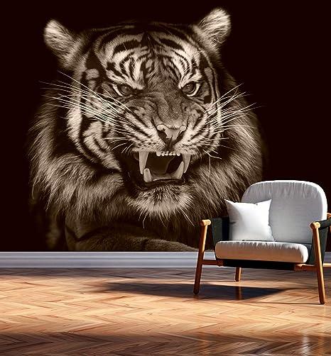 Vlies Tapete XXL Poster Fototapete Tiger Käfig