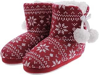 Shoeslocker Girls Winter Plush Bootie Slippers