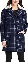 Levi's Women's Wool Plaid Sherpa Collar Top Coat