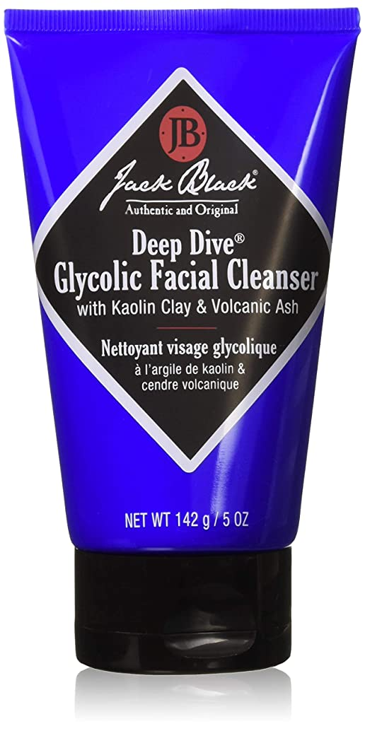 JACK BLACK – Deep Dive Glycolic Facial Cleanser – Clay-Based Cleanser, PureScience Formula, Facial Cleanser and Mask, Recommended for Normal, Dry, or Oily Skin, Glycolic Acid, 5 oz.