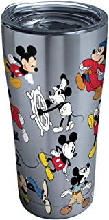 Tervis 1297811 Disney-Mickey Mouse 90th Birthday Stainless Steel Insulated Tumbler with Clear and Black Hammer Lid, 20oz, ...