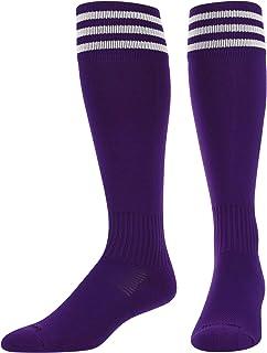 TCK, Elite ProDRI Finale - Calcetines de fútbol con 3 rayas y extra elástico para espinilleras (17 colores)