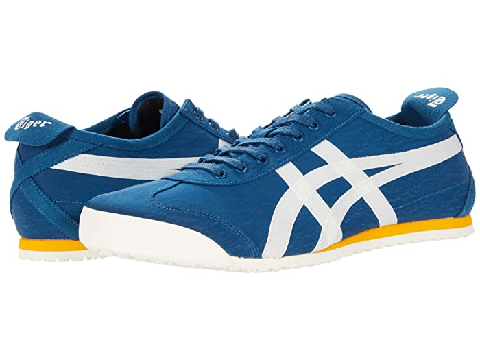 Mens Vintage Shoes, Boots | Retro Shoes & Boots Onitsuka Tiger Mexico 66 Mako BlueCream Lace up casual Shoes $100.00 AT vintagedancer.com