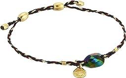 Precious Threads Crystal Rainbow Dark Swarovski Crystal Woodland Braid Bracelet