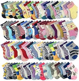 20 pares de calcetines de bebé al por mayor para niños pequeños (patrón al azar)