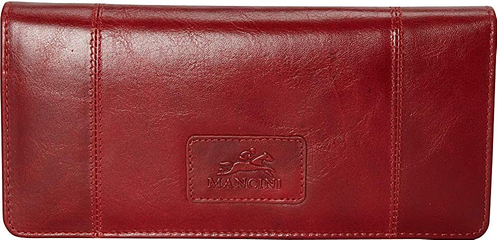 Mancini Ladies' RFID Secure Trifold Leather Wallet