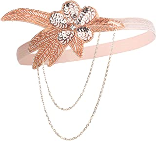 BABEYOND 1920s Flapper Headband Crystal Great Gatsby Headpiece Vintage 20s Flapper Gatsby Accessories (Style-3) Champagne