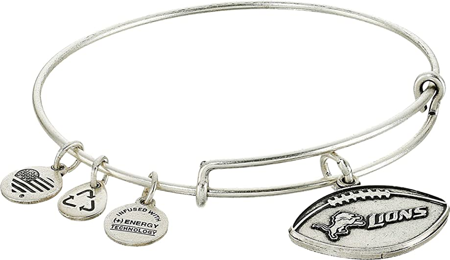 Alex and Ani Womens NFL Detroit Lions Football Bangle
