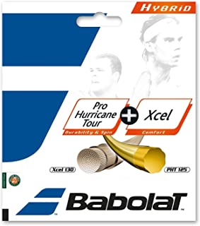 Babolat Pro Hurricane Tour + Xcel Hybrid (Poly/Multifilament Combo) Tennis Racquet String Sets - in Multi-Packs - Best for Comfort, Control, and Durability (2-4-6-8-Packs)