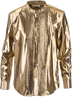 Luxury Fashion | Saint Laurent Womens 575010Y334V8000 Gold Shirt | Autumn-Winter 19