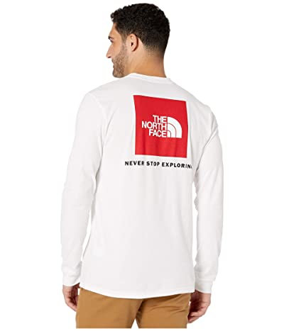 The North Face Long Sleeve Red Box T-Shirt (TNF White/TNF Red) Men
