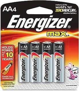 Energizer MAX Alkaline Batteries, AA, 4 Batteries/Pack