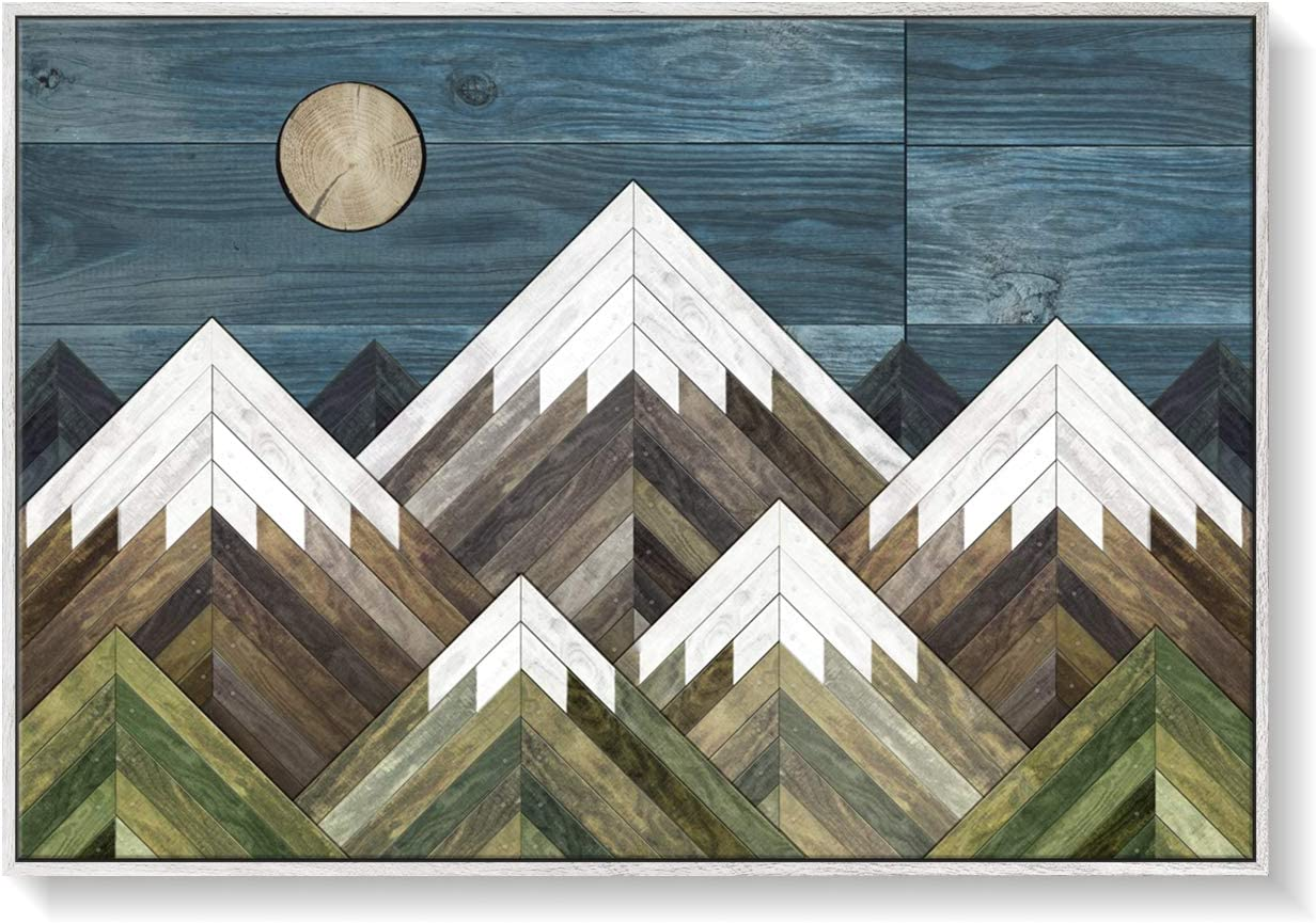 Canvas Print Rustic Modern safety Farmhouse Living Large Room Geometric Complete Free Shipping