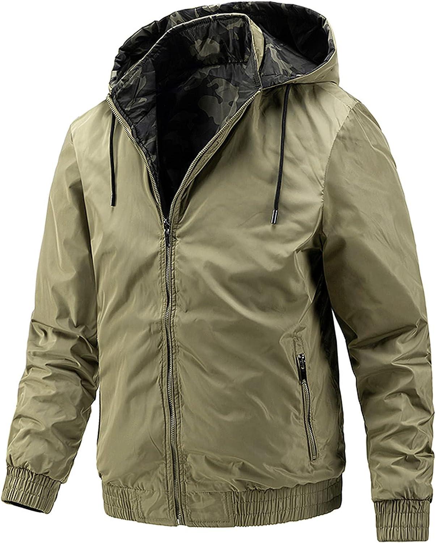 Winter Coats for Mens 2 in 1 Western Sherpa Fleece Hoodie Jackets