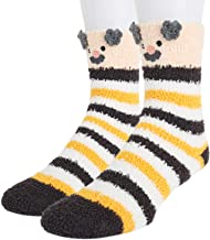 Mens Fun Cute 3D Cartoon Animal Soft Warm Cozy Floor Fluffy Slipper Fuzzy Socks