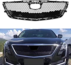 MotorFansClub Front Grill fit for compatible with Cadillac CT6 2016 2017 2018 Bumper Upper Grille Hood Mesh Grill Honeycomb, Black