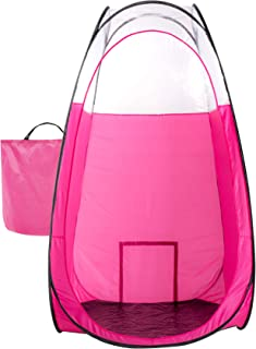 Pink Spray Tanning Tent Pop Up Portable Booth with Carry Bag