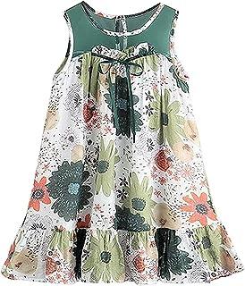 [サコイユ] ワンピース 花柄 ガールズ 子供服 ノースリーブ 女の子 チュニック トップス キッズ 夏