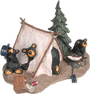 DEMDACO Camp Runamuck Bear Black Bear 5 x 7.5 Hand-cast Resin Figurine Sculpture
