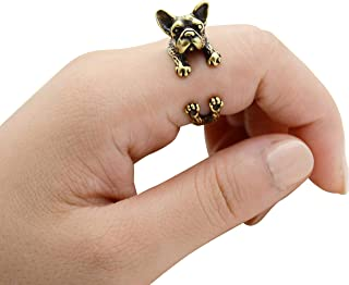 cm 14k Gold Plated 925 Sterling Silver Heart Dog Earrings French Bulldog Boston Terrier
