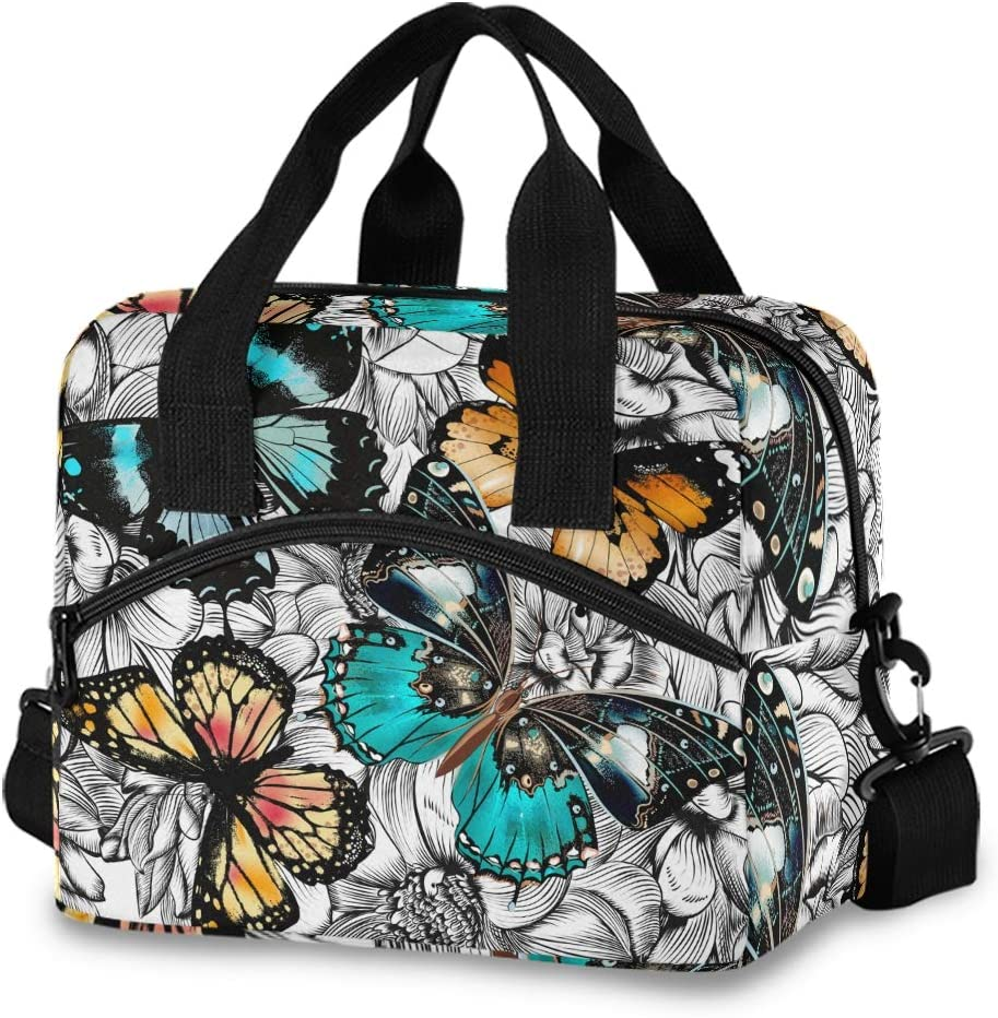 Award Butterflies Lunch Bag Cheap mail order specialty store for Women Box Tote Men Insulated