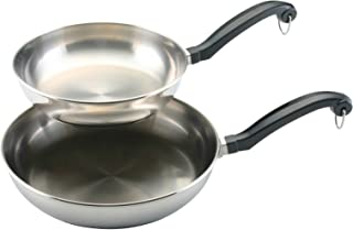 Farberware Classic Stainless Steel 8.25-Inch and 10-Inch Twin Pack Skillet Set - 71229