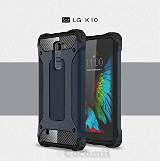 Cocomii Commando Armor LG K10/Premier Case New [Heavy Duty] Premium Tactical Grip Dustproof Shockproof Hard Bumper [Military Defender] Full Body Dual Layer Rugged Cover for LG K10 (C.Metal Slate)