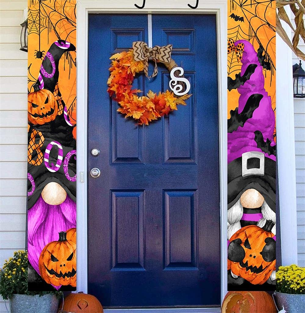 National uniform free shipping Gnome Halloween Porch Sign for Door Por Discount mail order Outside Front
