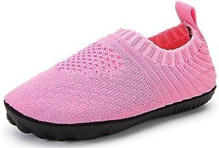 Pantofole da Casa Bambini Antiscivolo Ciabatte Interne a Maglia Ragazzi Ragazze Comode Leggero Scarpe con Suola in Gomma