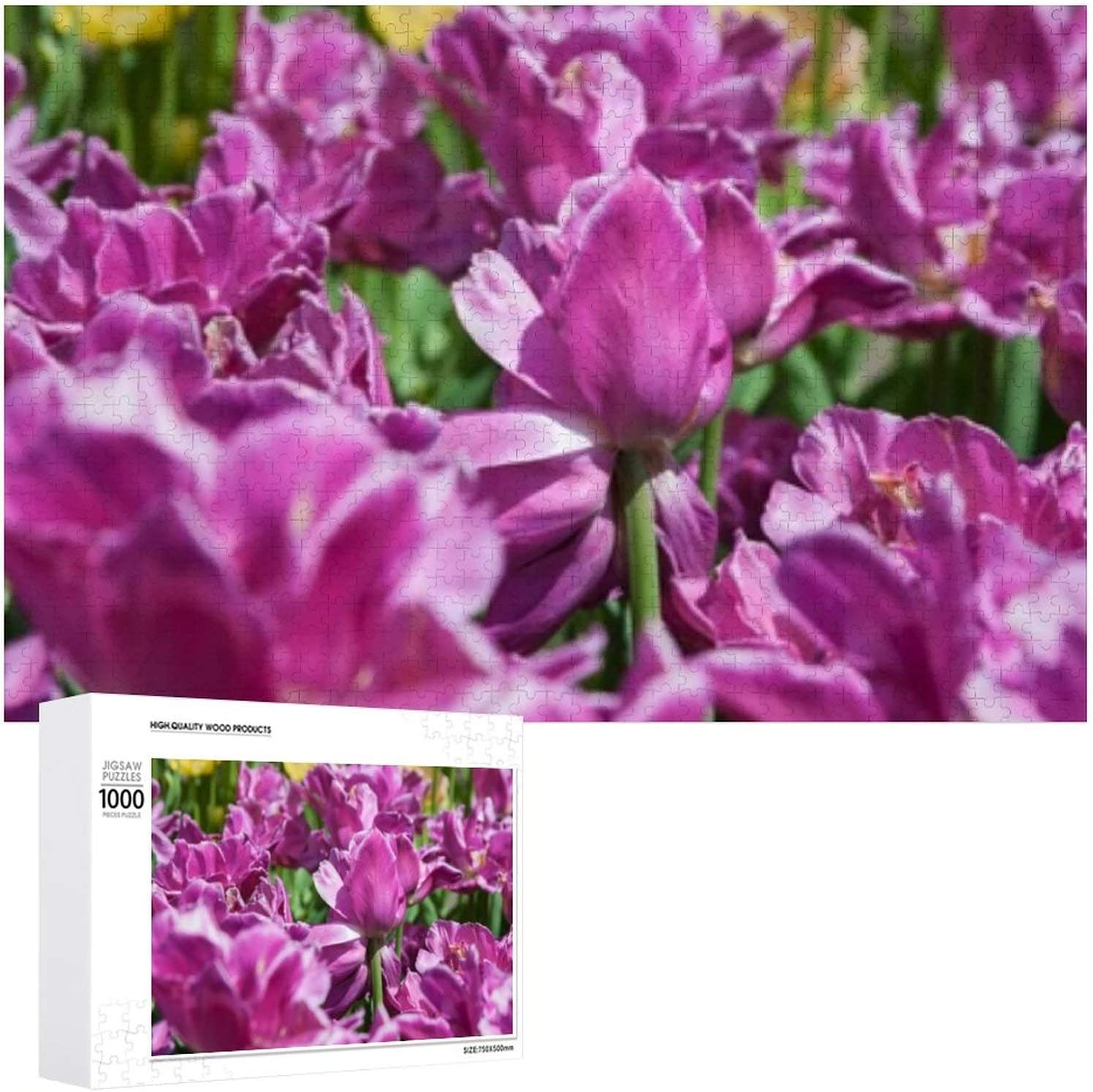 Blooming Purple Brand new Tulips trend rank - 1000 Adults for Ki Puzzles Jigsaw